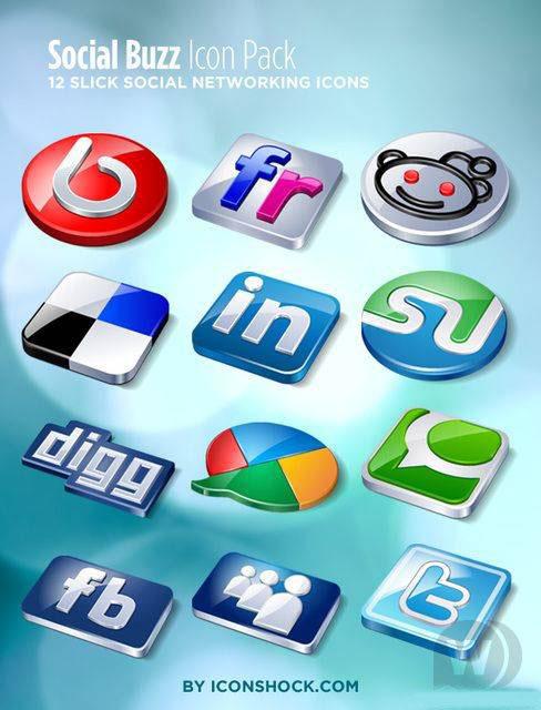 Социальные иконки + Сезонные RSS Иконки