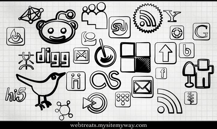 новые иконки популярных социальных сетей