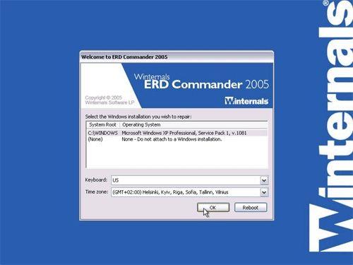Winternals ERD Commander  2005